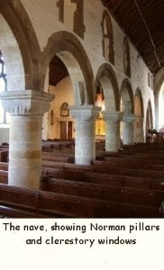 The Nave with Norman pillars